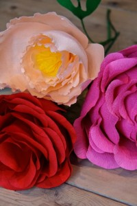 Mixed Paper Flowers